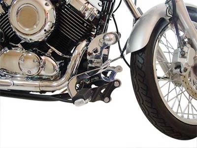 Protetor de Motor de Chapa c/ Avanço de Pedais Cromado - Drag Star 650