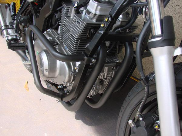 Protetor de Motor / Mata Cachorro Modelo Envolvente GS 500 - Prata Fosco - Suzuki