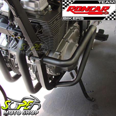 Protetor de Motor / Mata Cachorro Modelo Envolvente GS 500 - Preto Fosco - Suzuki