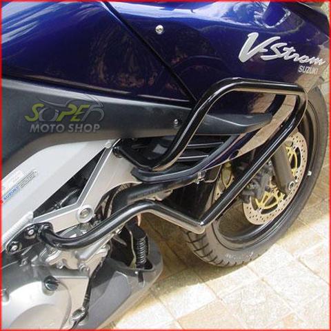Protetor de Motor e Carenagem Roncar Preto Fosco - DL V-Strom 1000 até 2009 / V-Strom 650 até 2012 & 2013 em Diante - Suzuki