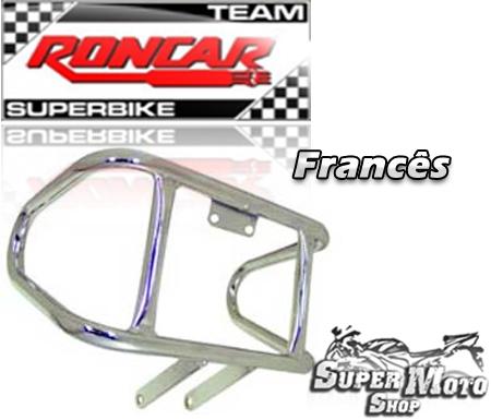 Protetor de Motor Modelo Francês Light Cromado - CG 125 Titan KS/ES