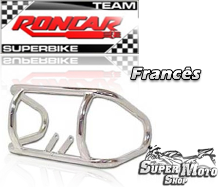 Protetor de Motor Modelo Francês Cromado - Katana 125