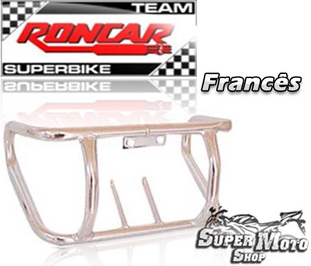 Protetor de Motor Modelo Francês Cromado - YBR 125