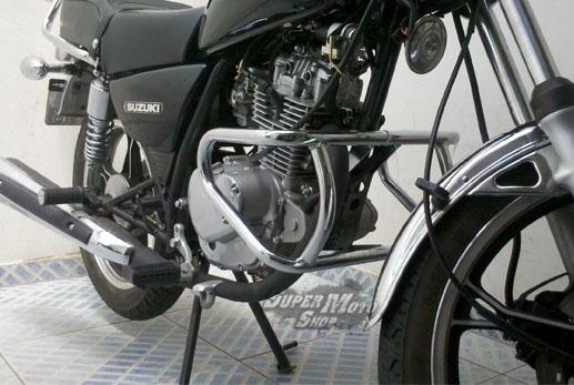 Protetor de Motor / Mata Cachorro Modelo Francês Yes 125 - Cromado - Suzuki