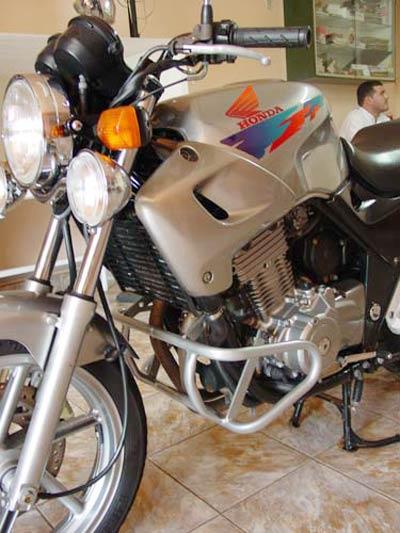 Protetor de Motor / Mata Cachorro Modelo Francês CB 500 1997 até 2005 - Prata Fosco - Honda