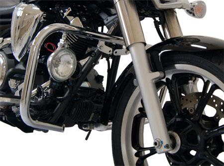 Protetor de Motor / Mata Cachorro Modelo Harley Com Farois - Midnight Star 950 - Cromado - Yamaha