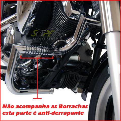 Protetor de Motor / Mata Cachorro Modelo Wild Style Cromado - Midnight Star 950 - Yamaha