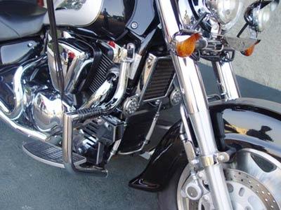Protetor de Motor / Mata Cachorro Modelo Wild Style Cromado - Intruder 1500 - Suzuki