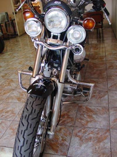 Protetor de Motor / Mata Cachorro Modelo Wild Style Cromado - Virago 1100 - Yamaha