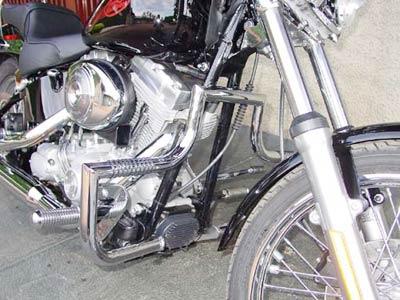 Protetor de Motor Modelo Wild Style Cromado - HD Softail Heritage Classic 1450 cc / HD Softail Special 1450 cc / HD Softail Standart 1450cc Ano 2001 até 2005