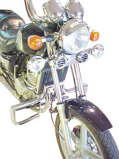 Protetor de Motor / Mata Cachorro Modelo Wild Style Cromado - Cruise I e II - Kasinski