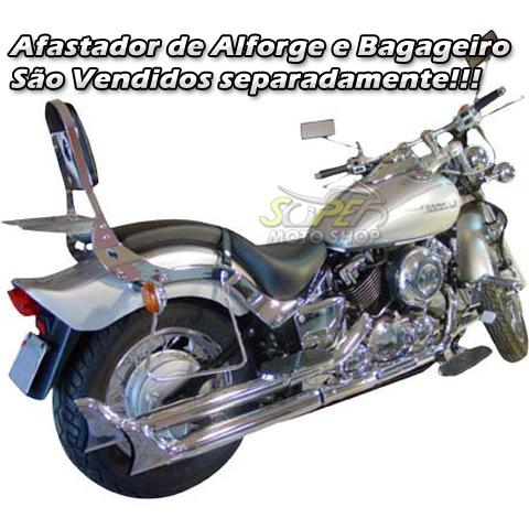 Sissy Bar / Encosto Traseiro Scorpion em Chapa Sem Bagageiro - Drag Star 650 - Yamaha
