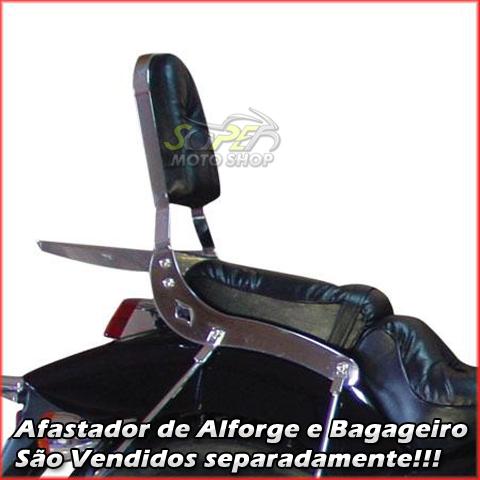 Sissy Bar / Encosto Traseiro Scorpion em Chapa Sem Bagageiro - Shadow 600 - Honda