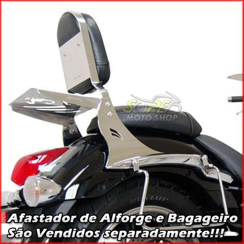 Sissy Bar / Encosto Traseiro Scorpion em Chapa Sem Bagageiro - Midnight Star 950 - Yamaha