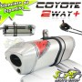 Escape / Ponteira Coyote TRS 2 Way + Mais Alumínio CG 150 Titan / Fan EX/ESDi/Start ano 2014/2015 - CG 160 FAN - Polido - Honda - Super Moto Shop