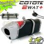 Escape / Ponteira Coyote TRS 2 Way + Mais Alumínio CG 150 Titan / Fan EX/ESDi/Start ano 2014/2015 - CG 160 FAN - Preto - Honda - Super Moto Shop