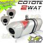 Escape / Ponteira Coyote TRS 2 WAY Alumínio YBR Factor 125 2009 até 2016 - Polido - Yamaha - Super Moto Shop