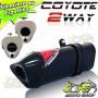 Escape / Ponteira Coyote TRS 2 WAY Alumínio CG 125 Titan KS 2000 até 2004 - Preto Black - Honda