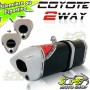 Escape / Ponteira Coyote TRS 2 WAY Alumínio CBX Twister 250 - Preto - Honda - Super Moto Shop
