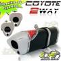 Escape / Ponteira Coyote TRS 2 WAY Alumínio - CG Titan / Fan 150 KS/ESi 2009 até 2013 - Preto - Honda - Super Moto Shop