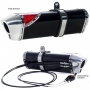 Escape / Ponteira Coyote Modelo TRS 2 Way + Mais em Alumínio - F 850 GS Adventure - BMW - Super Moto Shop