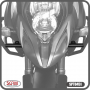 Suporte de Farol Auxiliar Modelo Scam Preto - V-Strom DL 1000 ano 2014 em Diante - Suzuki - Super Moto Shop