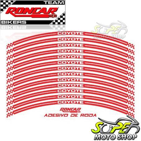Adesivo Refletivo Coyote para Rodas Dianteira e Traseira Vermelho - Transalp 700 - Honda
