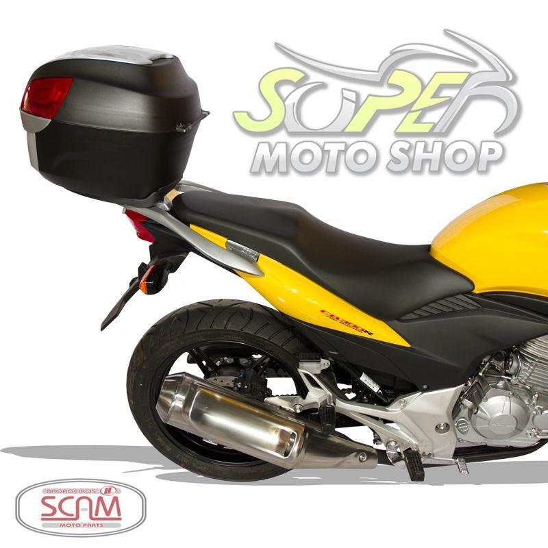 Bagageiro / Suporte Liga Leve Scam em Prata ou Preto- CB 300 R - Honda