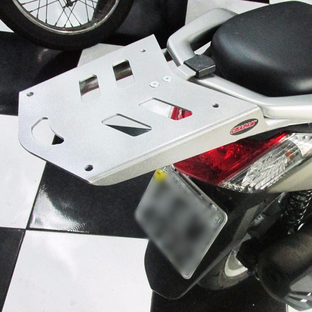 Bagageiro / Suporte Chapam em Chapa Prata - NMax 160 - Yamaha