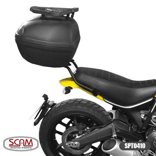 Bagageiro / Base Scam para Bauleto Traseiro Preto - Scrambler 800 ano 2016 em Diante - Ducati