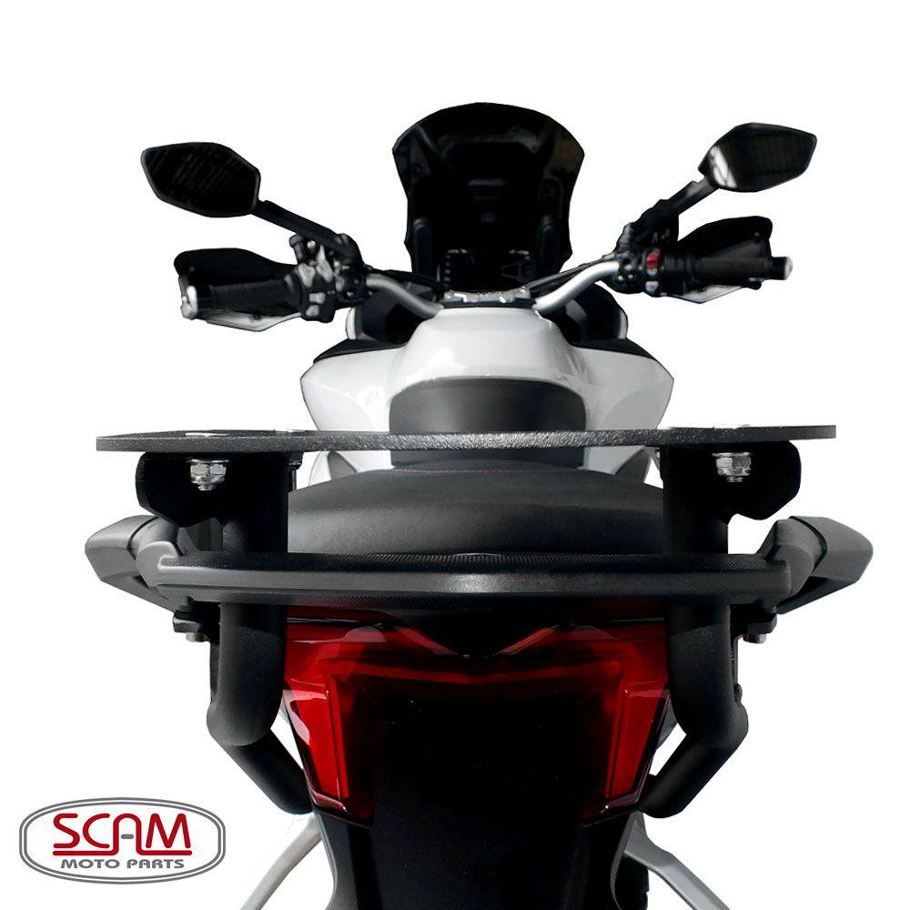Bagageiro / Base Scam para Bauleto Traseiro - Multistrada 950 / 1200 / 1260 / Enduro - Ducati