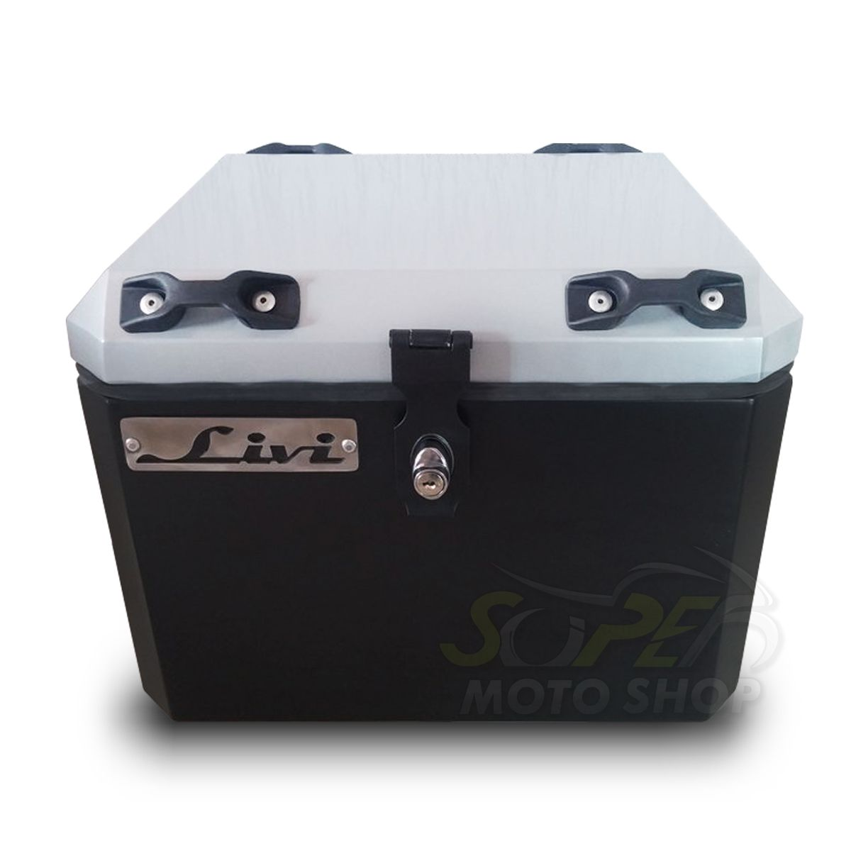 Bauleto / Baú Traseiro / Top Case Modelo Livi + Suporte Base - CB 500 X - Honda