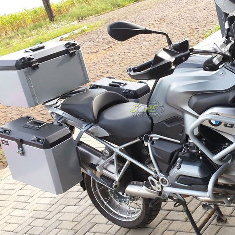 Bauleto / Baú Traseiro / Top Case Modelo Livi + Suporte Base - GS 1200 LC ano 2008 até 2012 - BMW
