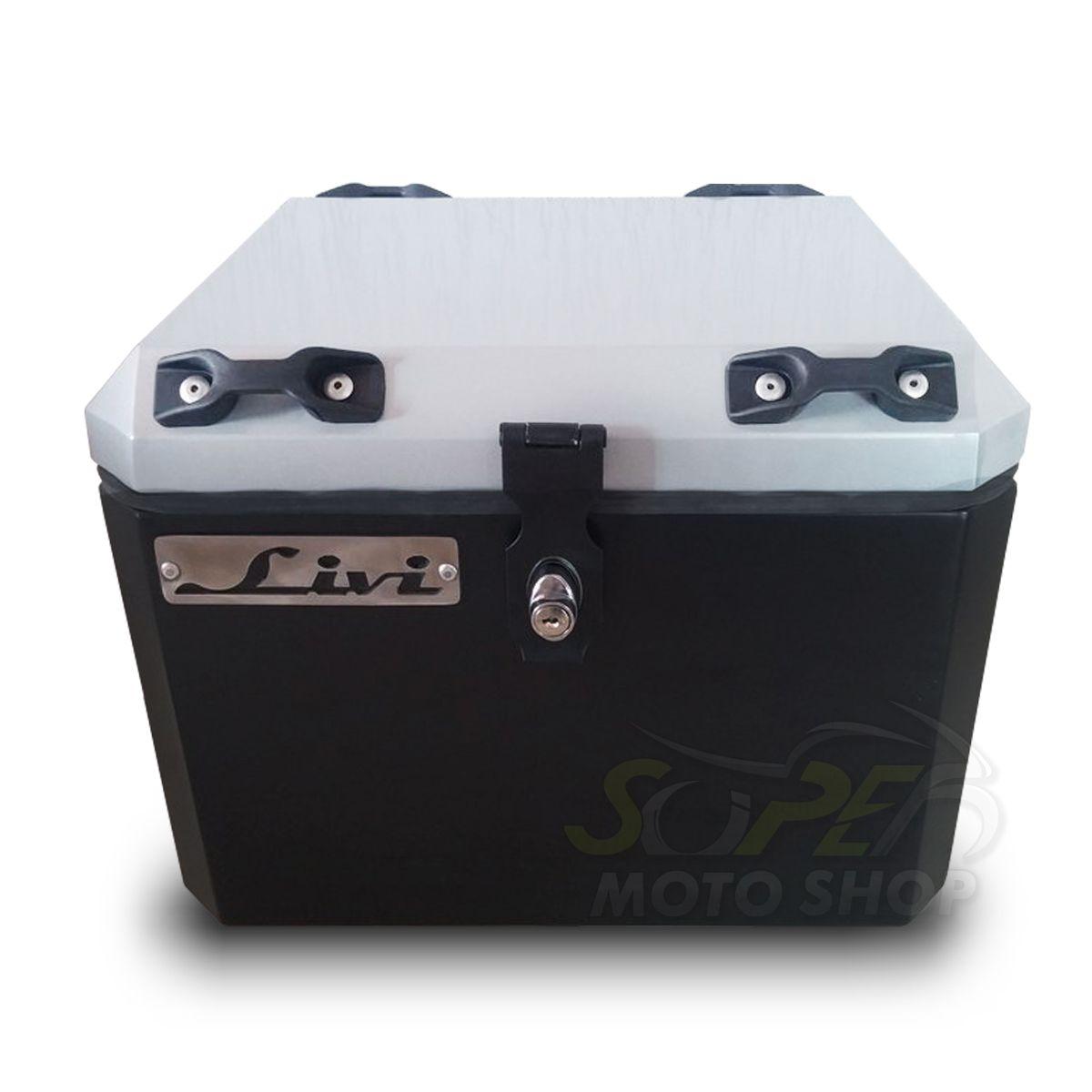 Bauleto / Baú Traseiro / Top Case Modelo Livi + Suporte Base - Tenere 250 até 2014 - Yamaha