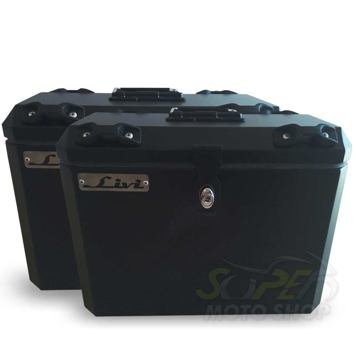 Bauletos / Baús Laterais / Side Case Modelo Livi 35 Litros PAR + Suporte Lateral - GS 1200 R LC ano 2013 em Diante - BMW