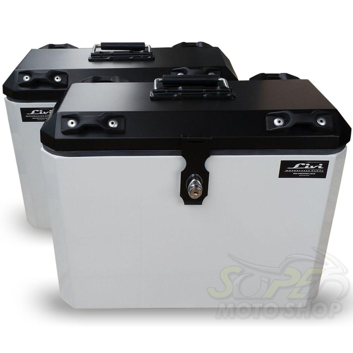 Bauletos / Baús Laterais / Side Case Modelo Livi 35 Litros PAR + Suporte Lateral - Tenere 250 até 2014 - Yamaha