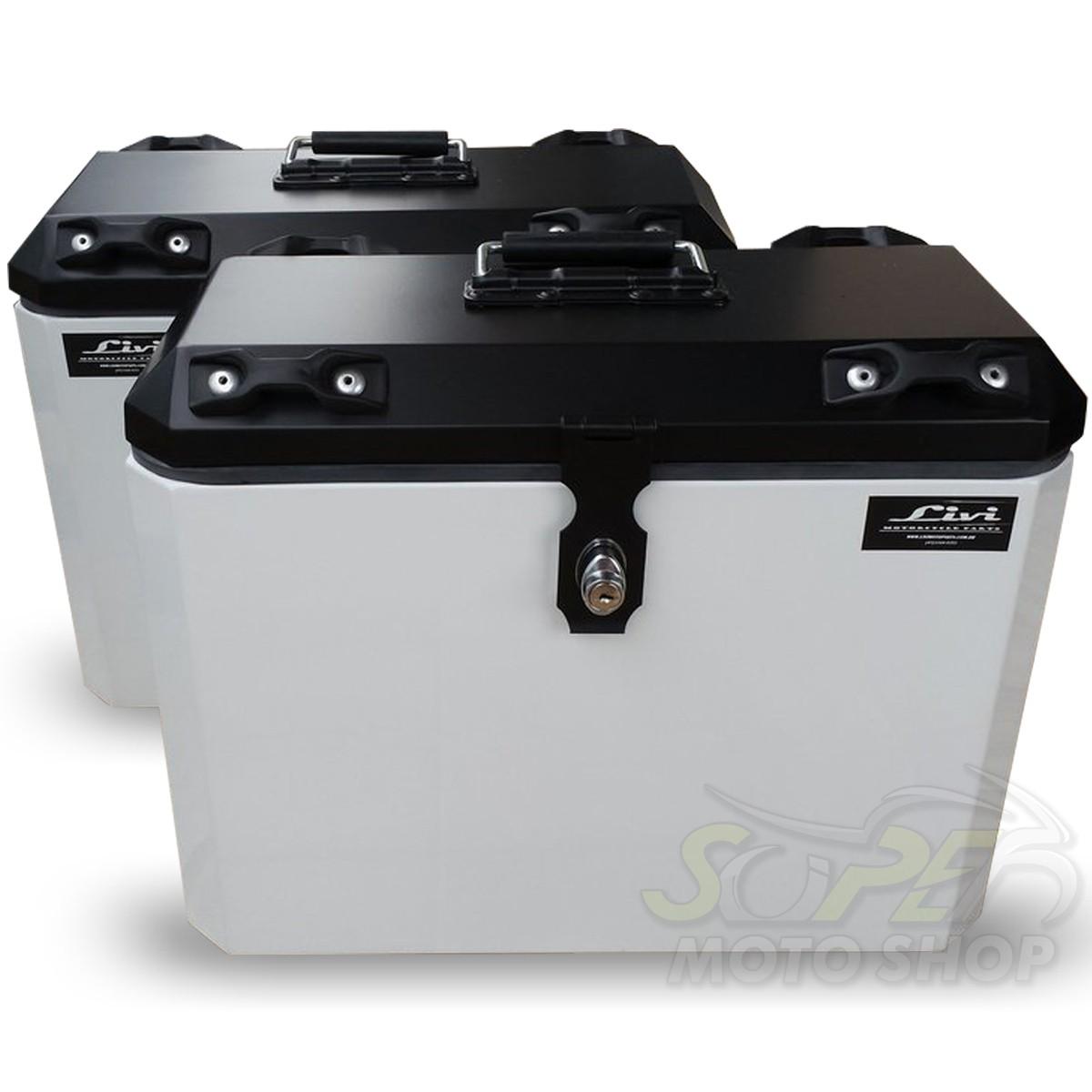 Bauletos / Baús Laterais / Side Case Modelo Livi 35 Litros PAR + Suporte Lateral - Versys 650 2015 em Diante - Kawasaki