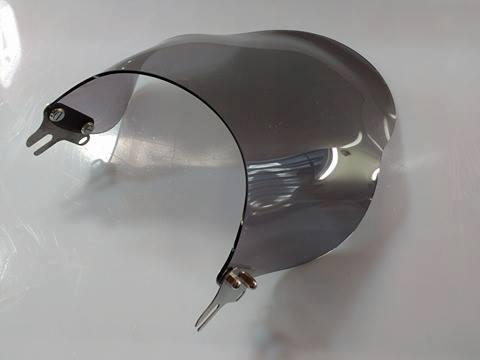 Bolha / Parabrisa Criativa Acessórios Fixação no Farol (Redondo) - Intruder 125 Todos os anos - Suzuki