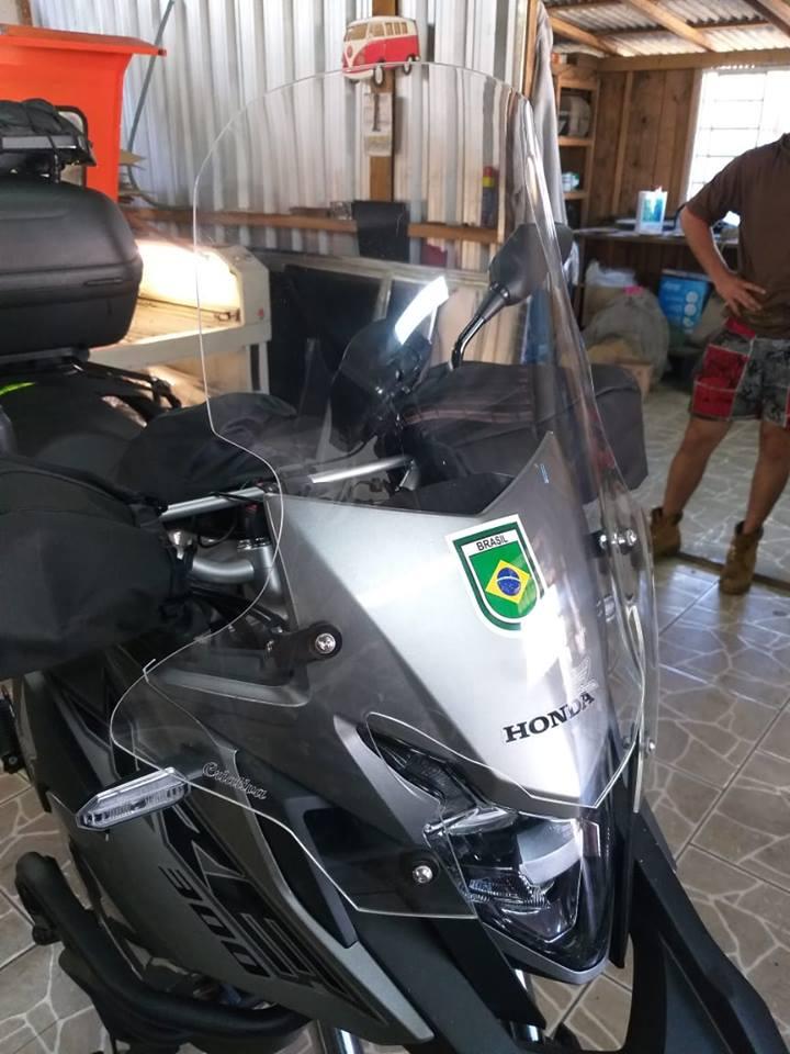 Bolha / Parabrisa + Defletor Criativa Acessórios - XRE 300 ano 2019 em Diante - Honda