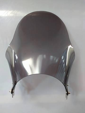 Bolha / Parabrisa Criativa Acessórios Fixação no Farol (Redondo) - YBR 125 2001 até 2008 - Yamaha