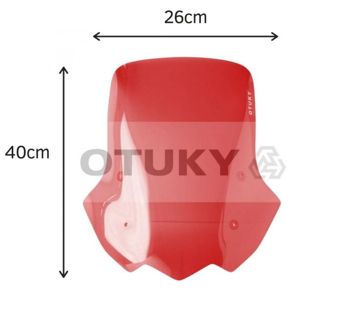 Bolha / Parabrisa Modelo Otuky Alongada em Acrílico (+10cm) - Cb 500 X - Honda 2014 até 2020