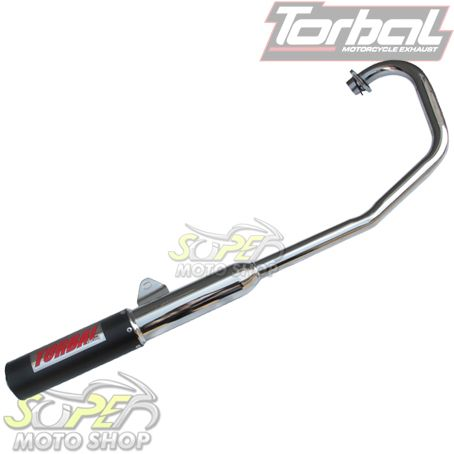 Escapamento Esportivo Modelo Torbal Colorido - YBR 125 Factor - Yamaha 2009 em diante