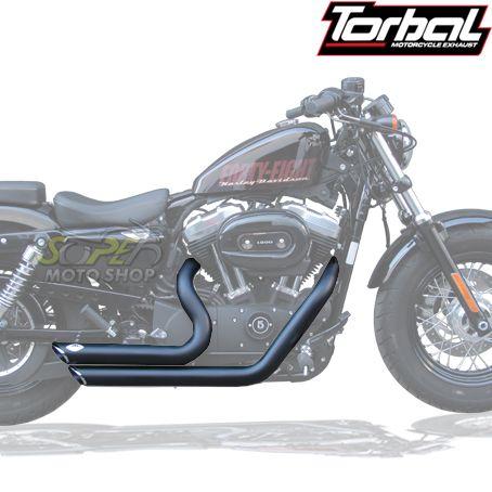 Escapamento Esportivo Torbal Modelo Short Shot Corte p/ Baixo - HD Sportster XL 883 até 2008 - Harley Davidson