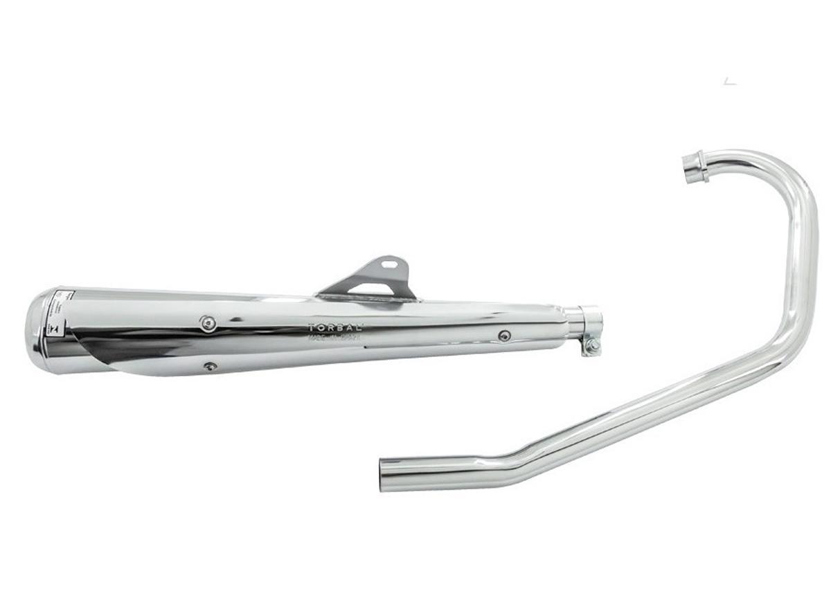 Escapamento Estralador Torbal Modelo Bipartido Com Capa - CG 125 Titan ES 2000 até 2004 - Honda