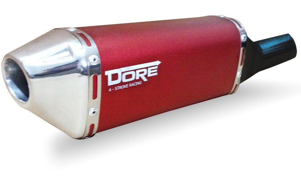 Escape / Ponteira Alumínio Dore + Curva em Inox - CRF 250 F - Honda