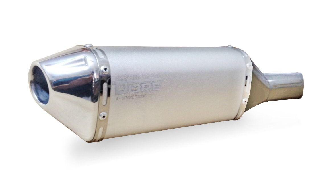 Escape / Ponteira Alumínio Dore + Curva em Inox - CRF 450 Injetada ano 2009 em Diante - Honda
