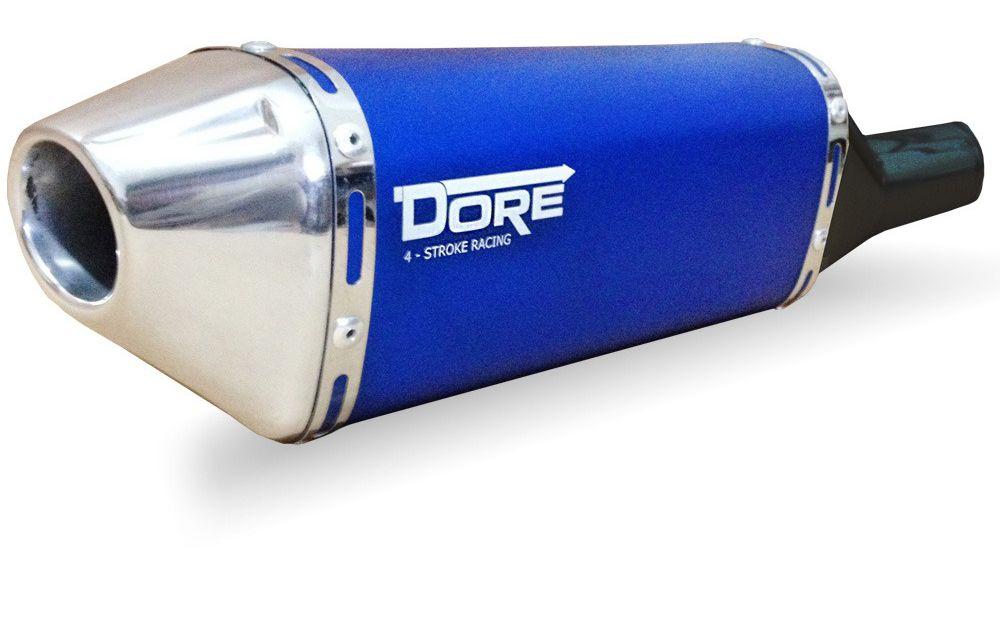 Escape / Ponteira Alumínio Dore + Curva em Inox - Factor 150 - Yamaha