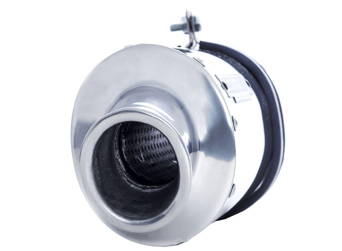 Escape / Ponteira Coyote RS3 Alumínio Oval - Burgman 125 até 2010 - Suzuki