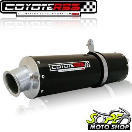 Escape / Ponteira Coyote RS3 Black Aluminio Preto Oval - STX 200 / Motard - Sundonw