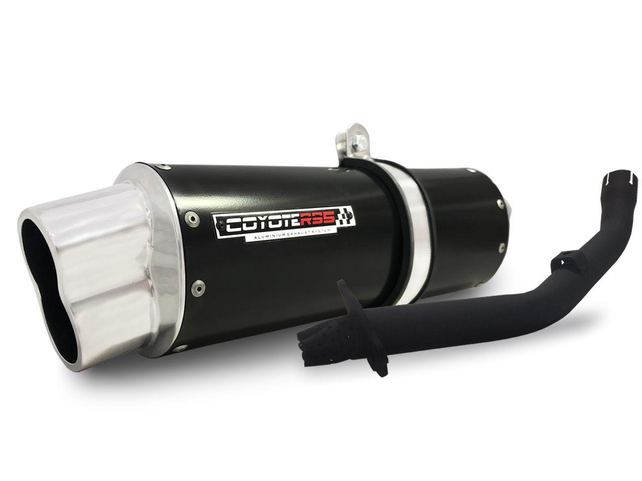 Escape / Ponteira Coyote RS5 Boca 8 Aluminio Oval - Bros 125/150 ano 2009 até 2015 - Honda